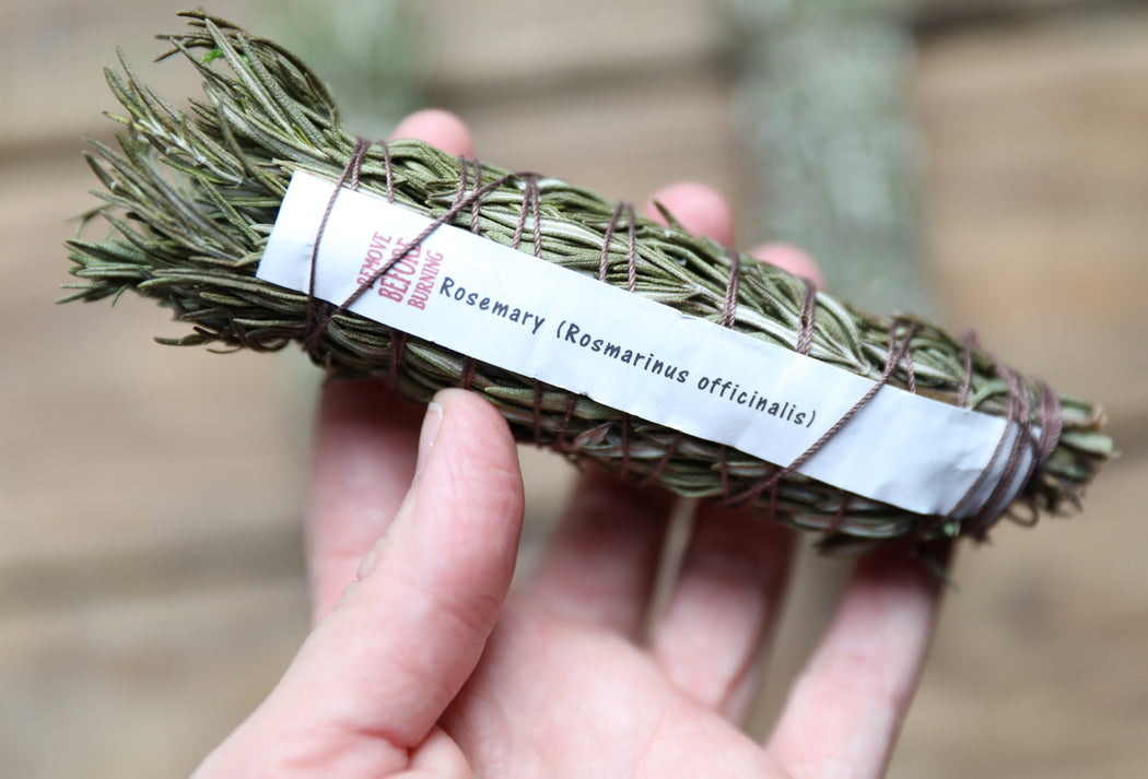 Rosemary Botanical Incense Smudge Wand