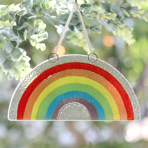 Spread Love Rainbow Suncatcher