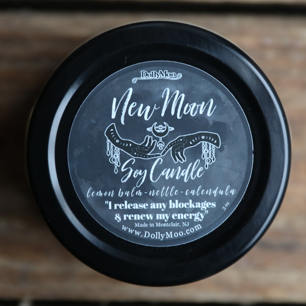 New Moon Soy Candle NEXT NEW MOON: March 13, 2021
