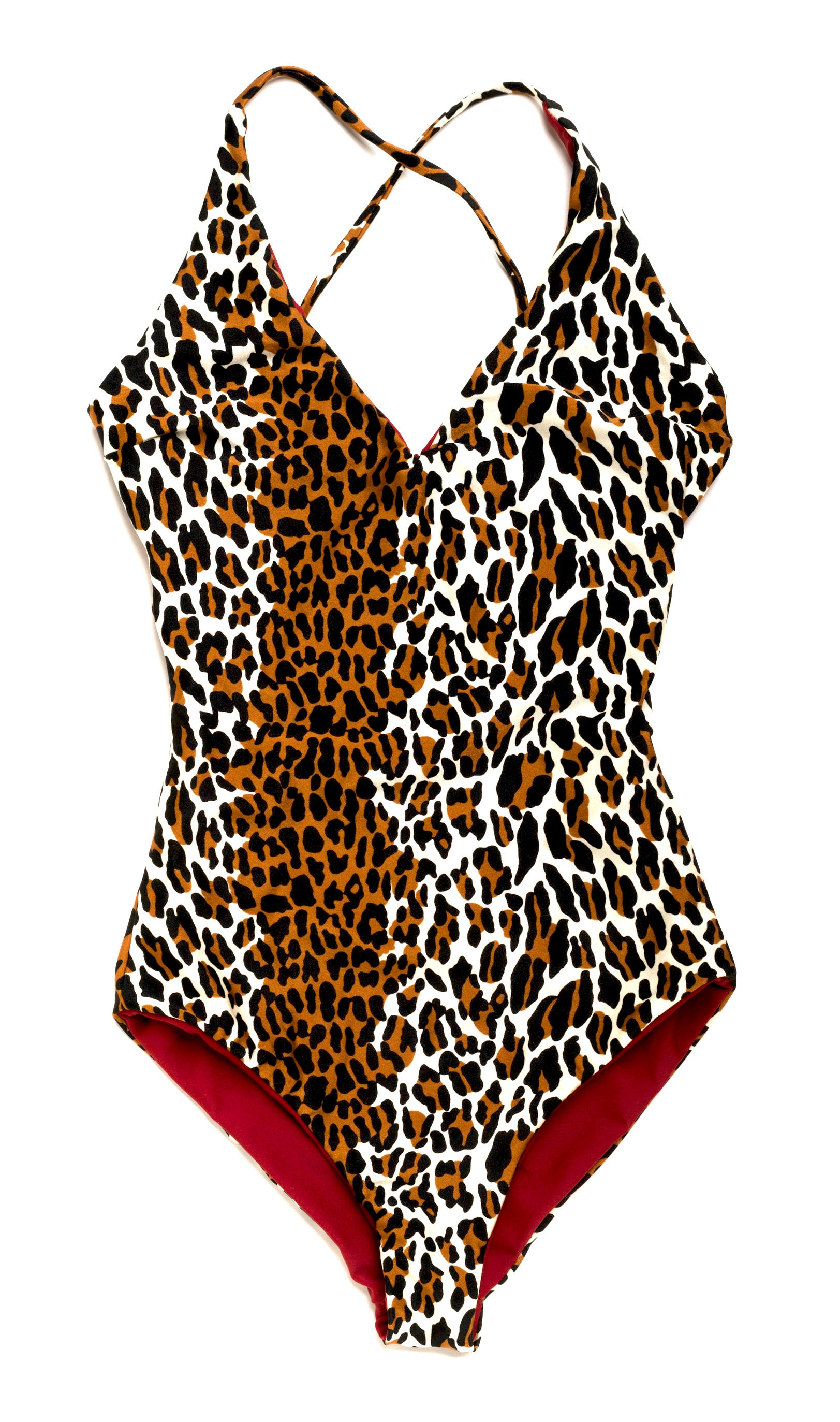 leopard reversible one piece swimsuit
