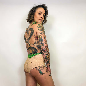 recycled high waisted bikini bottoms