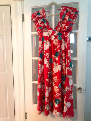 FLORAL MAXI DRESS : MEDIUM LARGE : THE ROYALE DRESS