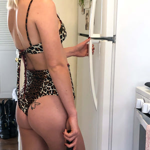 cheetah high waisted bikini