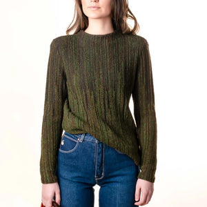 vintage army green sweater