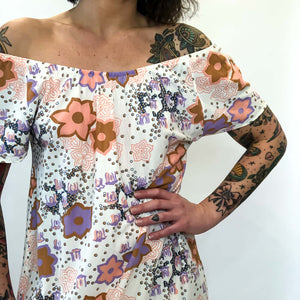 VINTAGE FLORAL NIGHTGOWN : MEDIUM : THE KATHERINE GOWN
