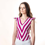 VINTAGE STRIPE TEE : XS : THE CHRISSY TOP