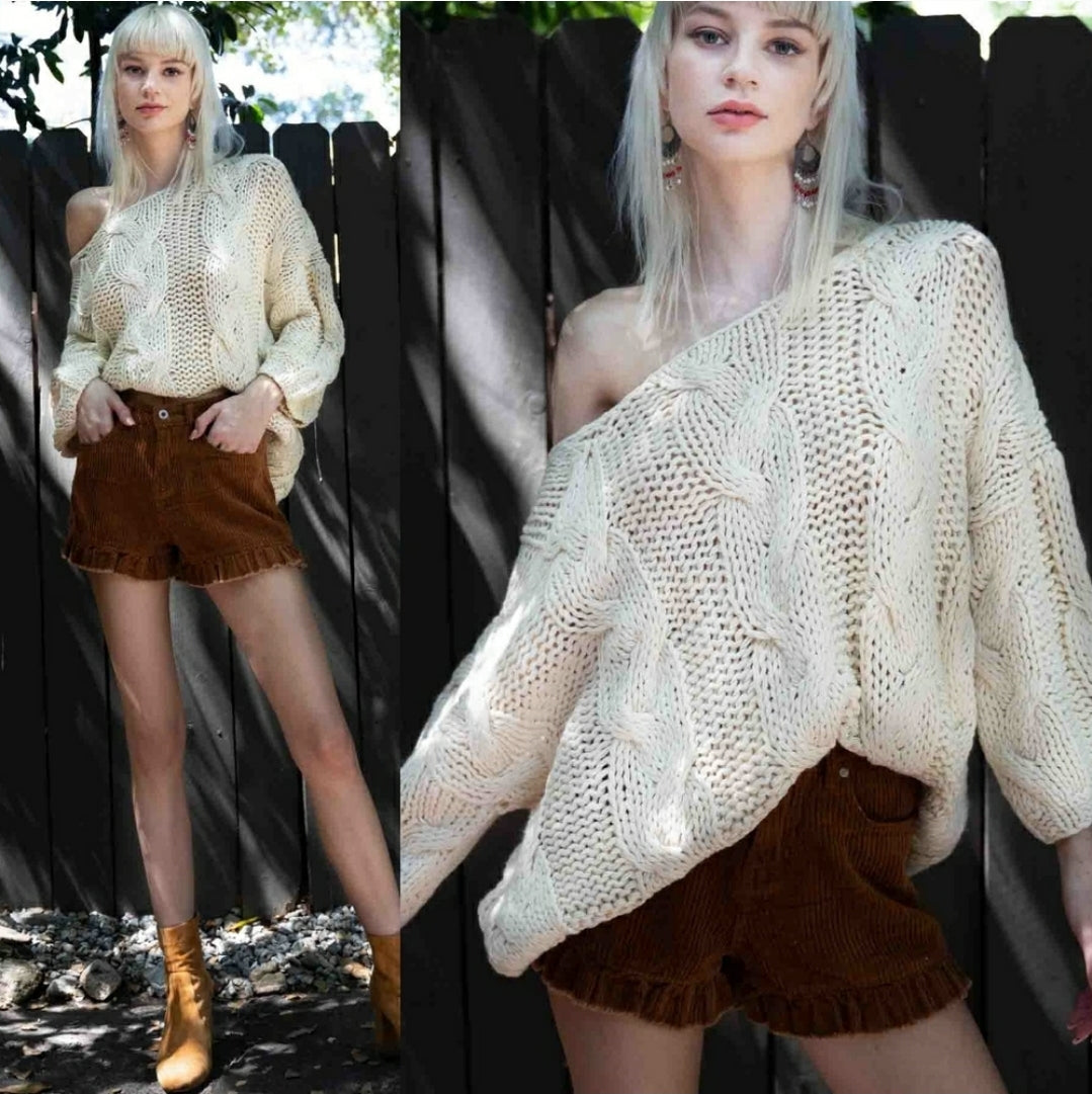 Hand-made Cable Knit Sweater