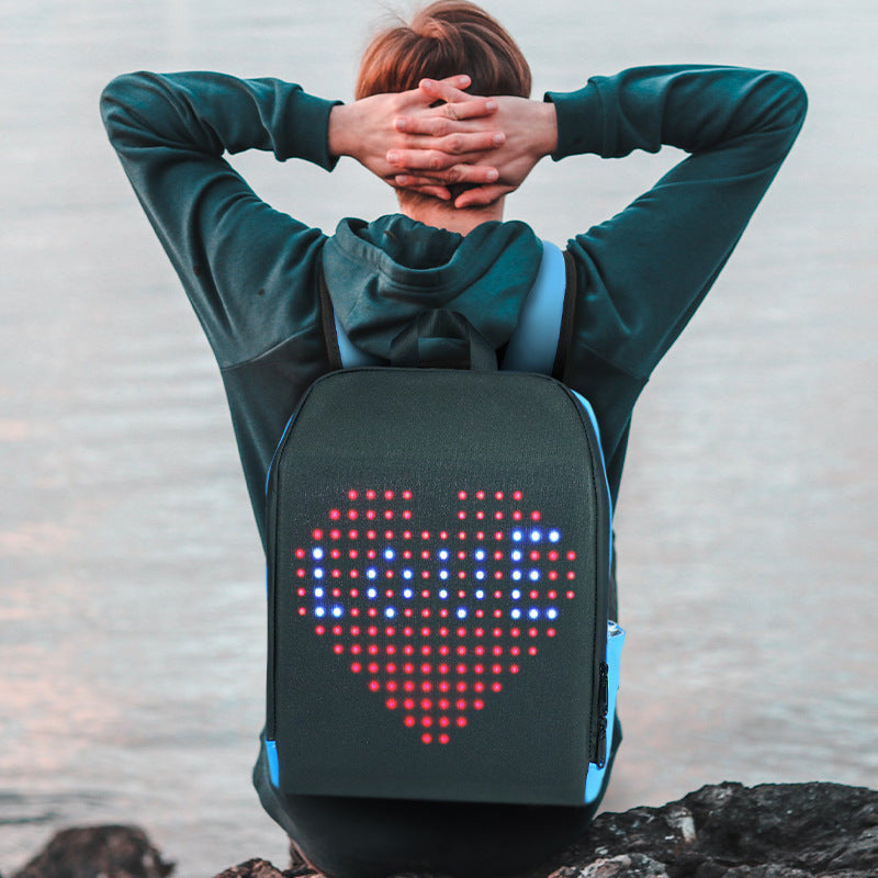 Biosled LED backpack with Screen H D LED Backpack Dynamic Advertising Backpack Outdoor City Walking Billboard Bags Letrero Led