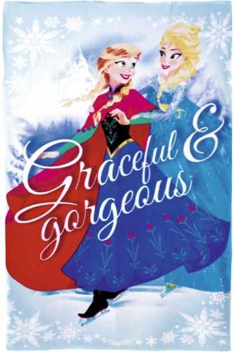 New Girls Disney Frozen Fleece Blanket Throw Exstore - Size 150 x 100cm