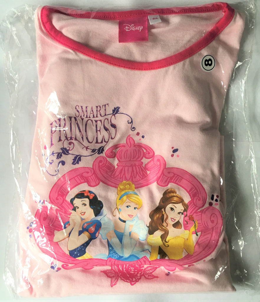 New Disney Princess Girls Pyjamas - Official - 100% Cotton - Size 8 Years