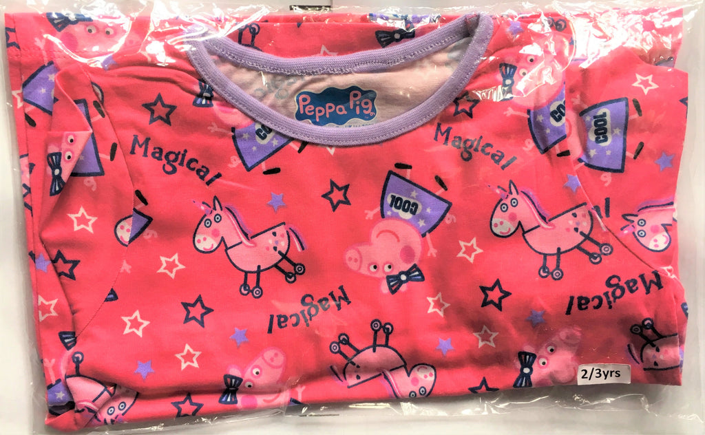 New Girls Peppa Pig Pyjama Set 2 Pc Long Sleeved - Official Exstore Nutmeg Morrisons - 3-4 Years