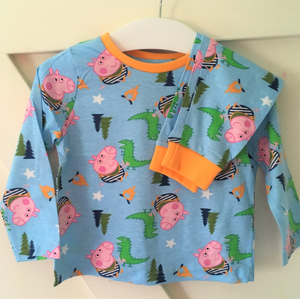 New Boys Peppa Pig George & Dinosaur Pyjamas Set 2 Pc - Exstore Nutmeg Morrisons - 2-4 Y