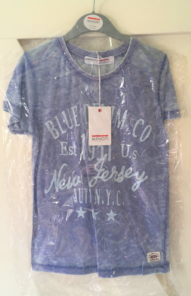 New Boys Burn Out Distressed New Jersey Tshirt 2 Colours - Exstore Minoti - Ages 8-13 Years