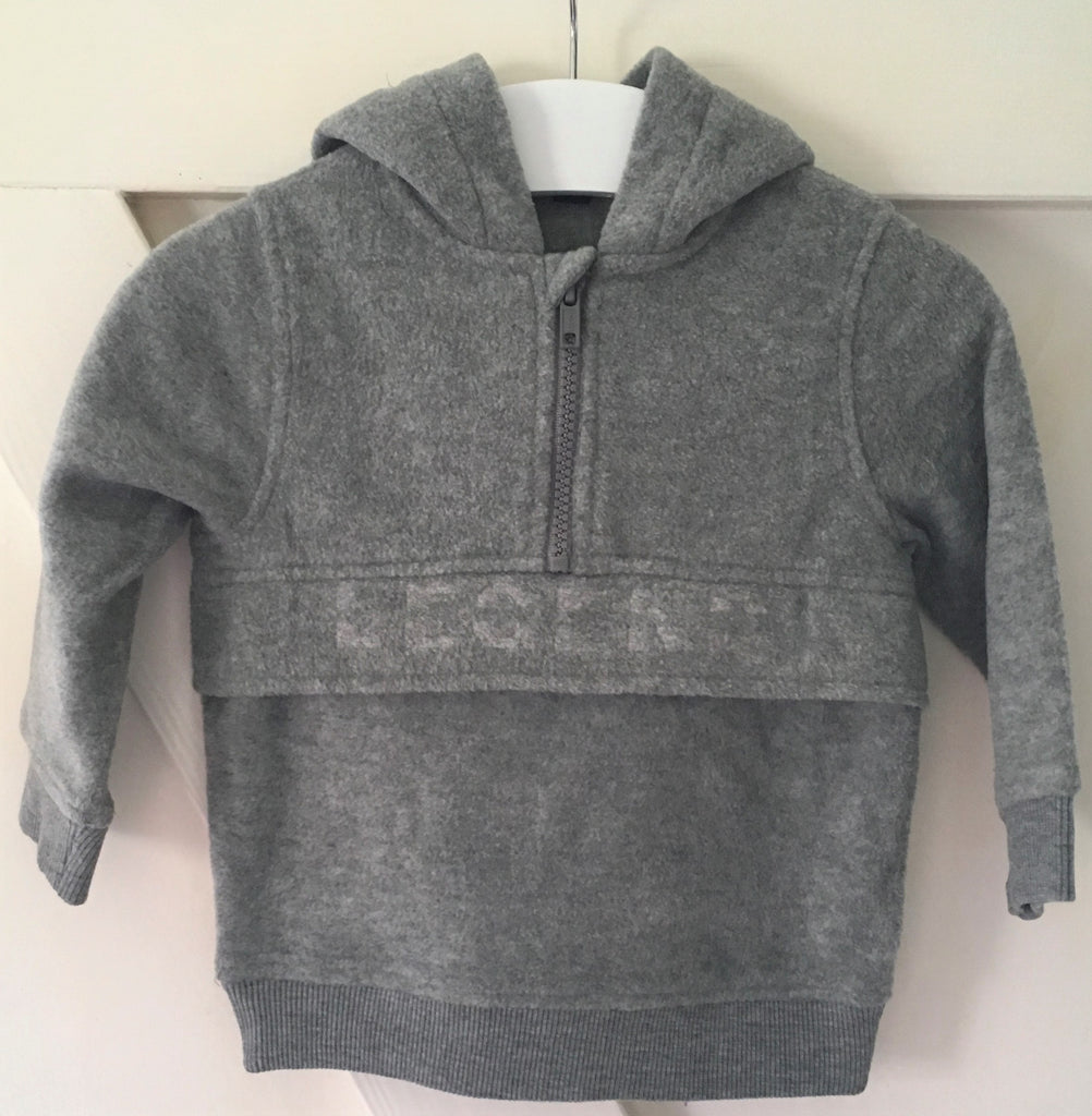 New Baby Boys Legend Grey Fleece Hoodie - Exstore Kiabi - Age 24 Months