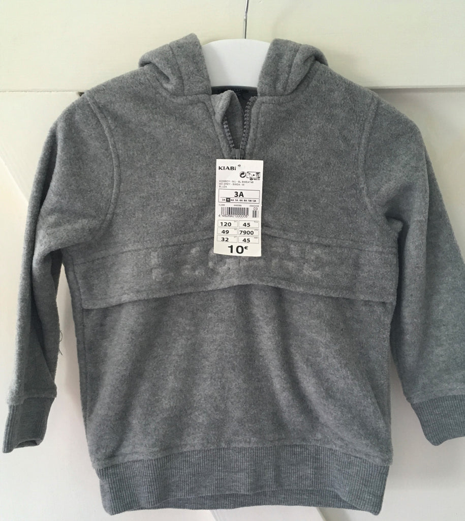 New Boys Legend Grey Fleece Hoodie - Exstore Kiabi - Ages 3-5 Years