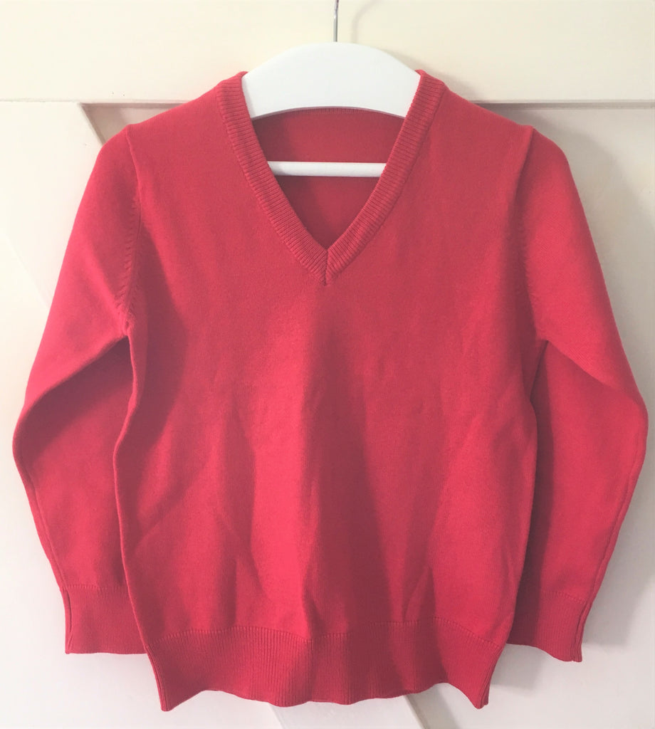 New Boys/Girls Red School Jumper Cotton Blend - Exstore M&S  Ages 4/5 Years