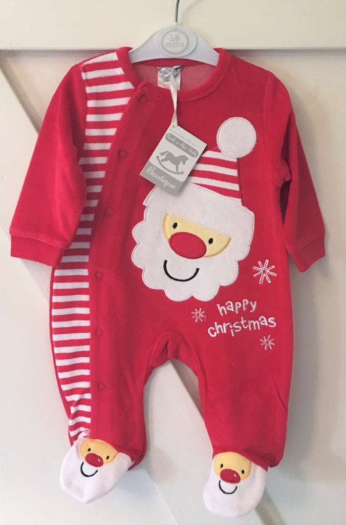 New Baby Happy Christmas Santa Babygrow Gift - Exstore Rockabye Size 3-6 Months
