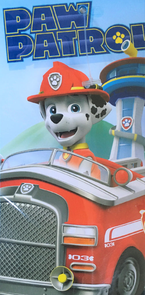 New Boys Paw Patrol Fast Drying Towel Marshall - Size 68x137cms - Sealed
