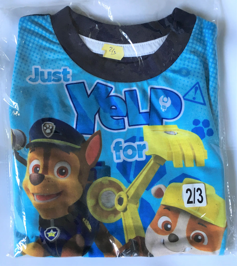 "New Boys Paw Patrol Shorts Pyjamas Set ""Yelp For Help!"" - Exstore - Age 2-3 Yrs"
