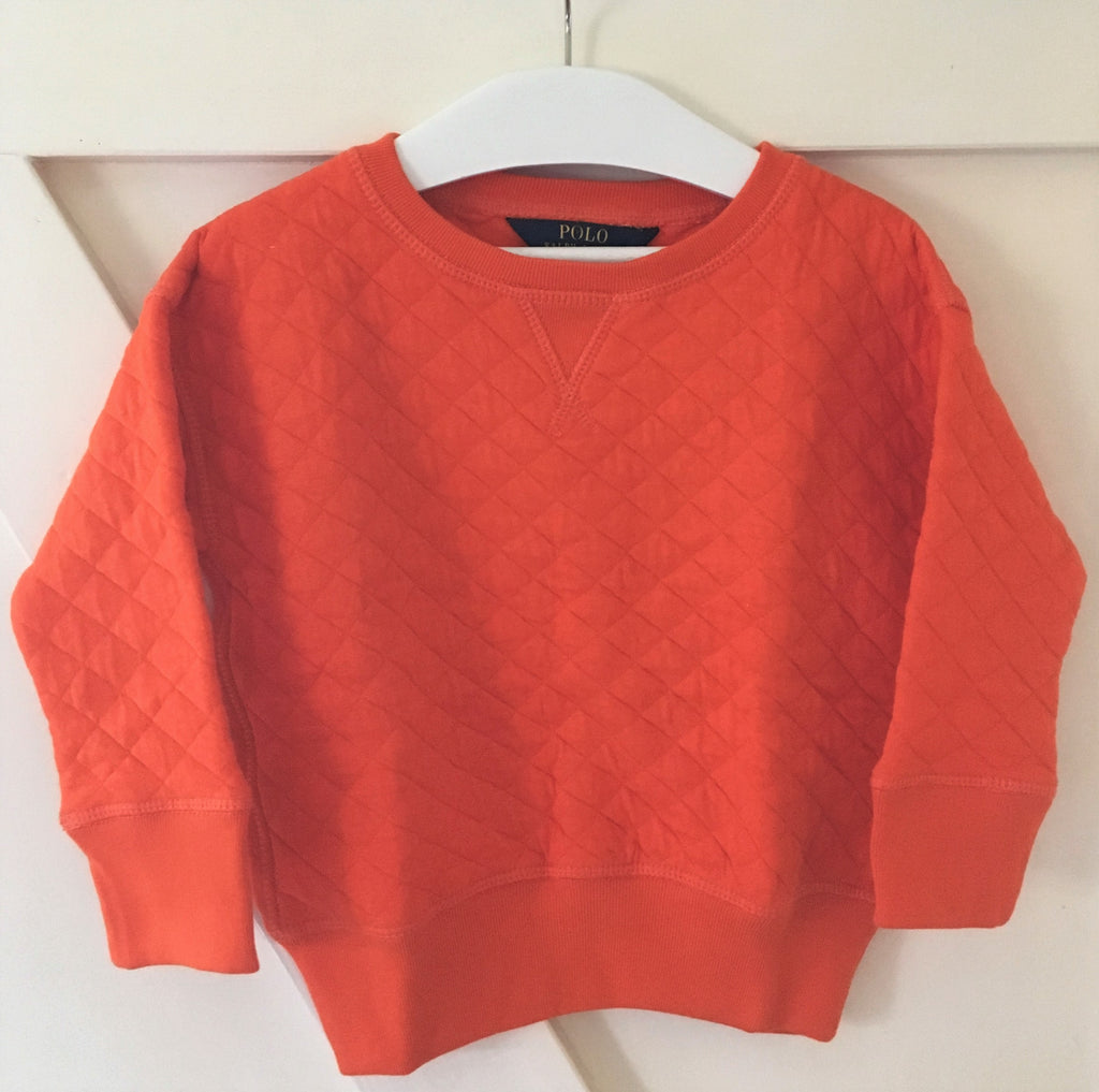 New Girls Official Ralph Lauren Jumper - Exstore - Orange - Size 5-6 Years