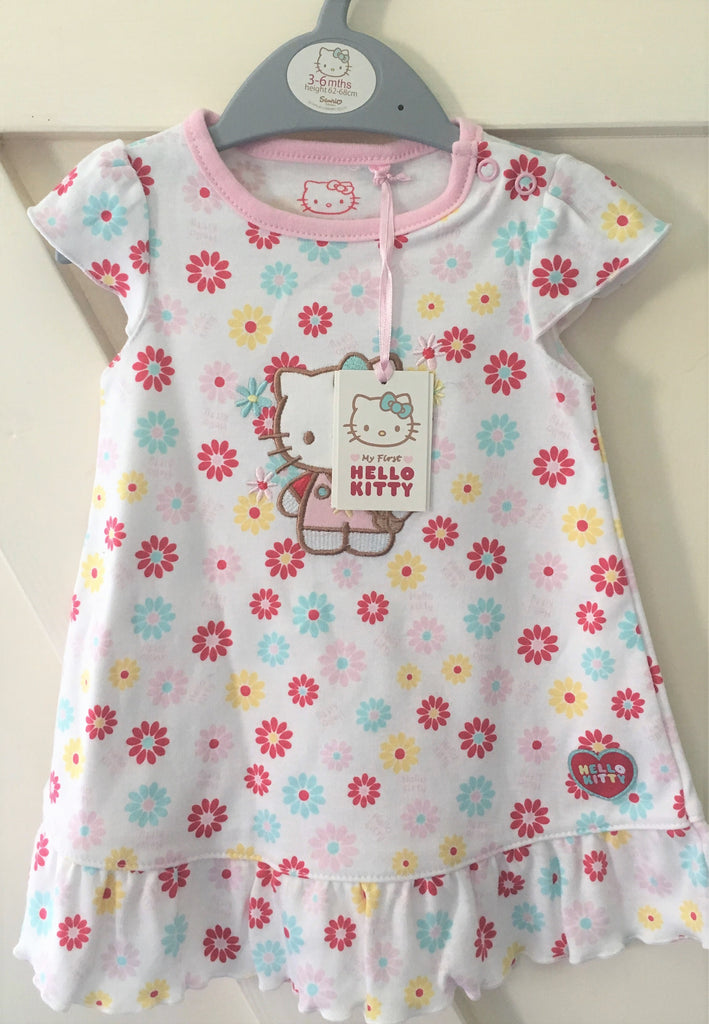 New Baby Girls My First Hello Kitty Summer Dress - Exstore Sainsbury's - Ages 1-9 Months