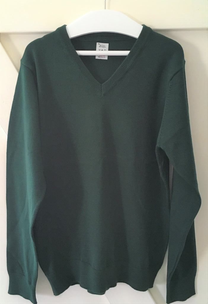 New Boys/Girls Green School Jumper Cotton Blend - Exstore M&S - Ages 11-12 Years