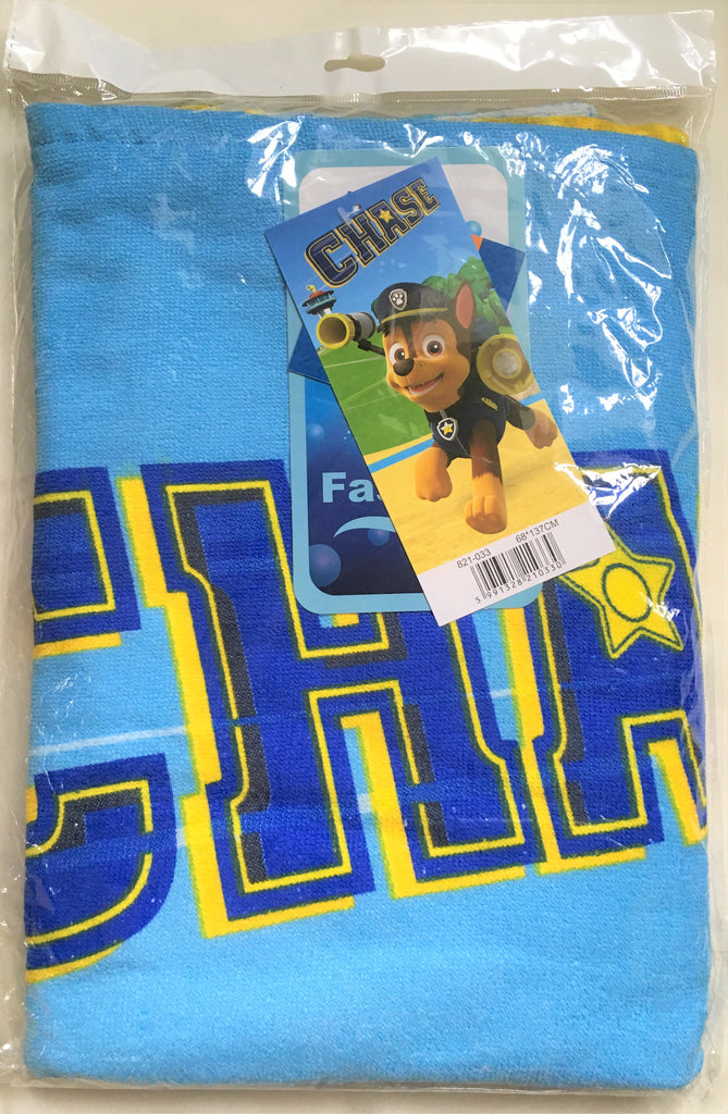 New Boys Paw Patrol Fast Drying Towel Chase - Size 68x137cms - Sealed