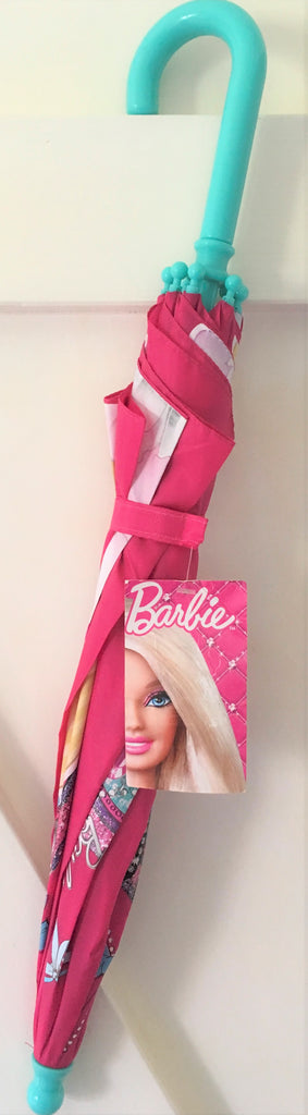 New Girls Barbie Umbrella - Easy Grip Wipe Clean Official Exstore 3+ Yrs 54cm