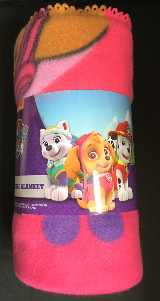 New Girls Paw Patrol Skye & Everest Soft Fleece Blanket Throw - Official Nickelodeon Merchandise