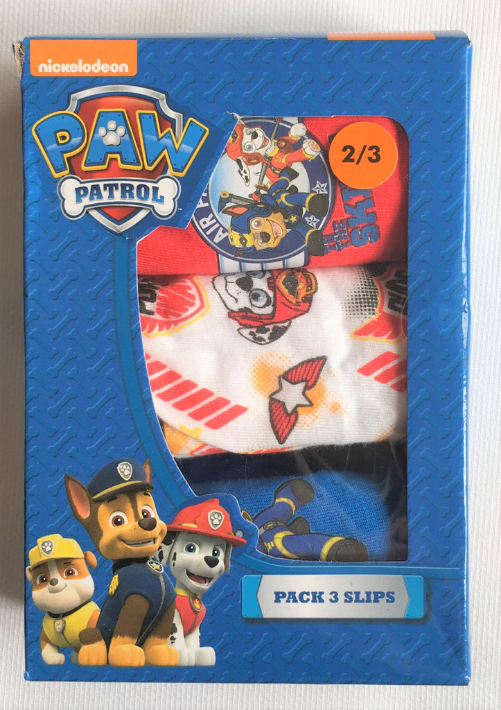 New Boys Paw Patrol Box Set x 3 Briefs 100% Cotton - Official Exstore - 2-6 Years