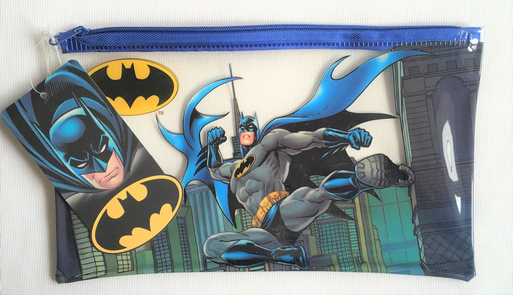 New Boys DC Comics Batman Pencil Case - Translucent - Official DC Exstore - 24x14cm