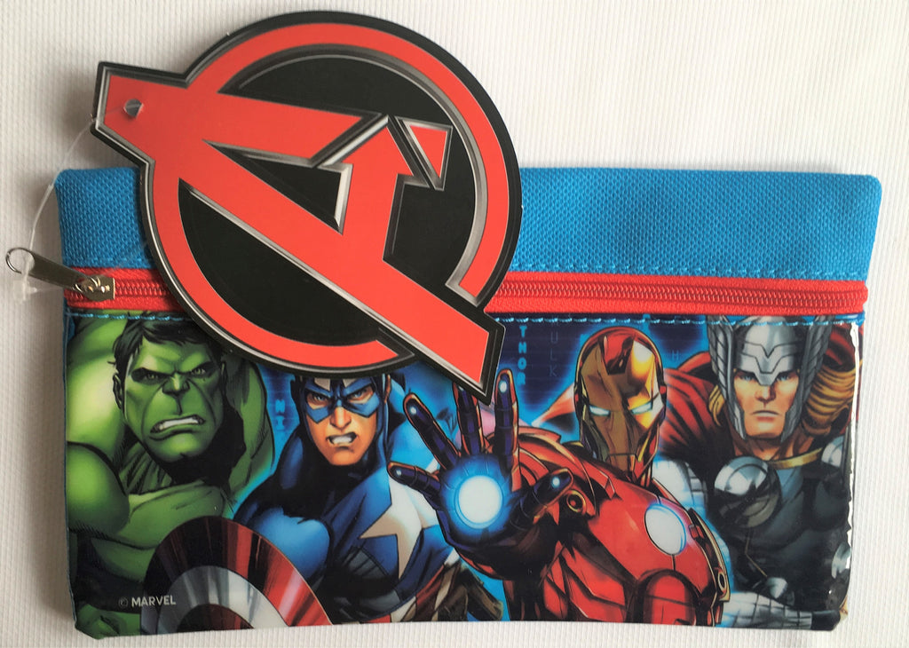 New Boys Marvel Avengers Zip Pencil Case - The Hulk Captain America Iron Man Thor