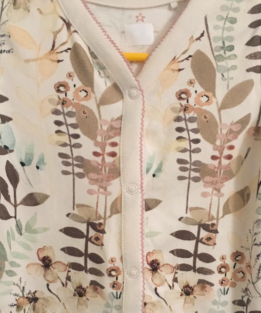 New Next Baby Girls Babygrow - Long Sleeved Autumn Foliage - Size 6-9 Months