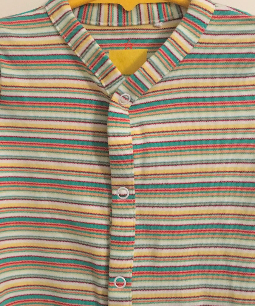 New Next Baby Boys/Girls Neutral Sleepsuit - Long Sleeved Multicoloured Stripe - Size 3-6 Months