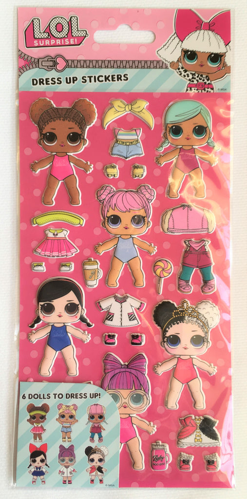 New Girls L.O.L Surprise Dress Up Foam Activity Stickers Pack Reusable - Exstore