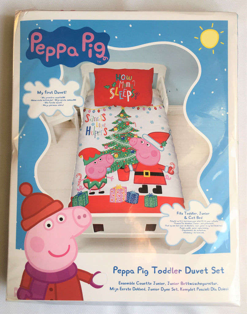 New Official Peppa Pig Toddler Christmas Set - My First Duvet! Fits Toddler Bed Junior & Cot Bed