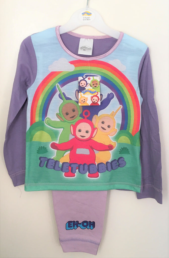 "New Official Teletubbies Girls Pyjama Set - ""Eh-Oh"" - Exstore - Ages 18/24M, 2-4 Years"