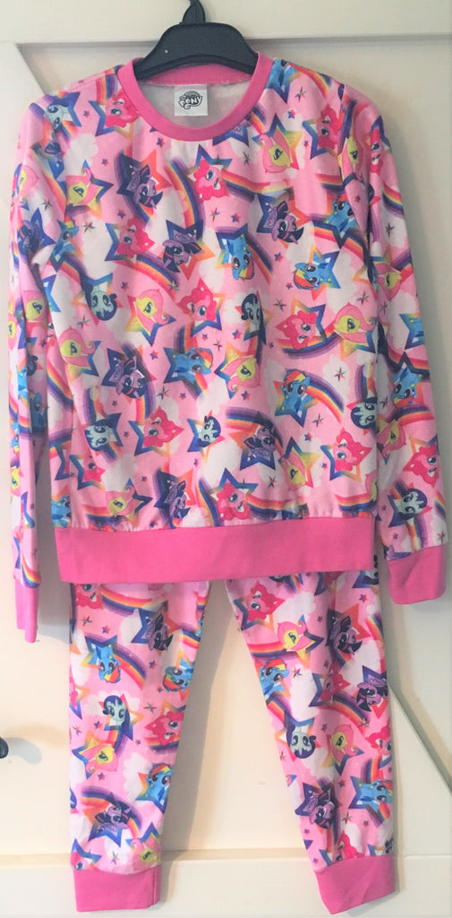 New My Little Pony Girls Fleece Pyjamas - Official - Size 3-9 Years