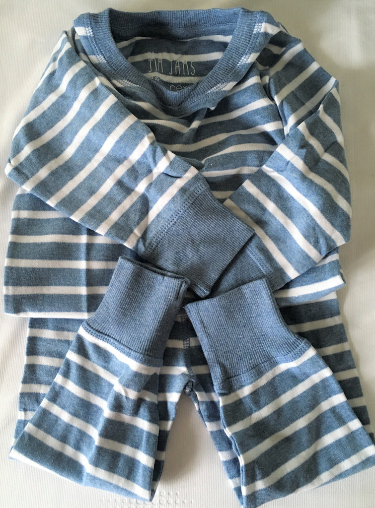 New Baby Boy 3 Pack L/Sleeved Pyjamas - Exstore -100% Cotton - 2-3 Yrs
