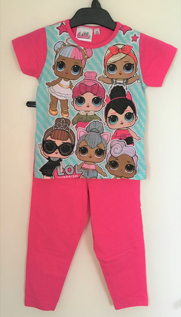 New L.O.L Surprise Girls Pyjamas - Official Bagged - 100% Cotton - Size 3-6 Years
