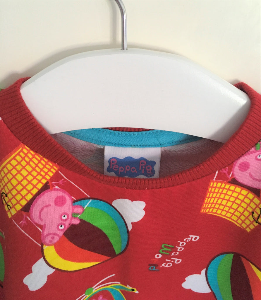 "New Girls Boys Peppa Pig George Sweater - ""Up High in the Sky!"" - 100% Cotton - Ages 2-6 Yrs"