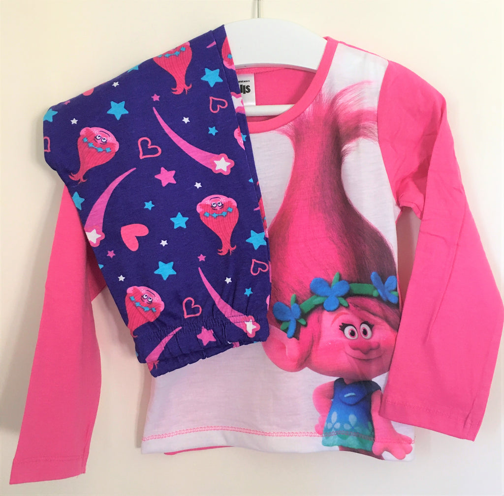 New Girls Trolls Poppy Pyjamas Set - Exstore - 12 Months - 6 Years