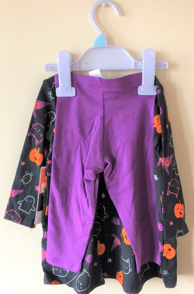 New Baby Girls Halloween Top & Leggings Set Exstore F&F Baby - Age Up To 3M