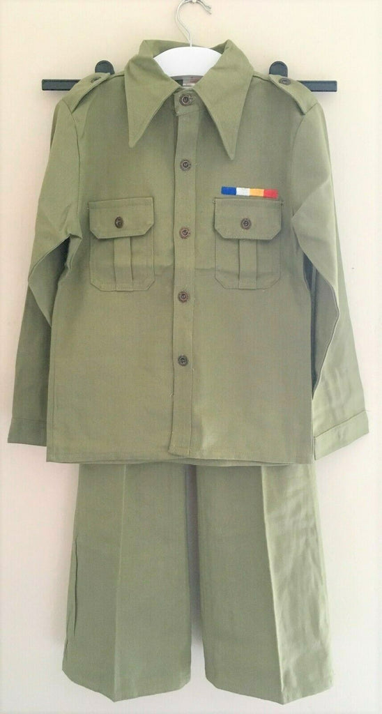 New Retro Boys 2PC Army Set - Exstore Cuckoo - Hyde Park Design Fancy Dress - Ages 7-11 Y