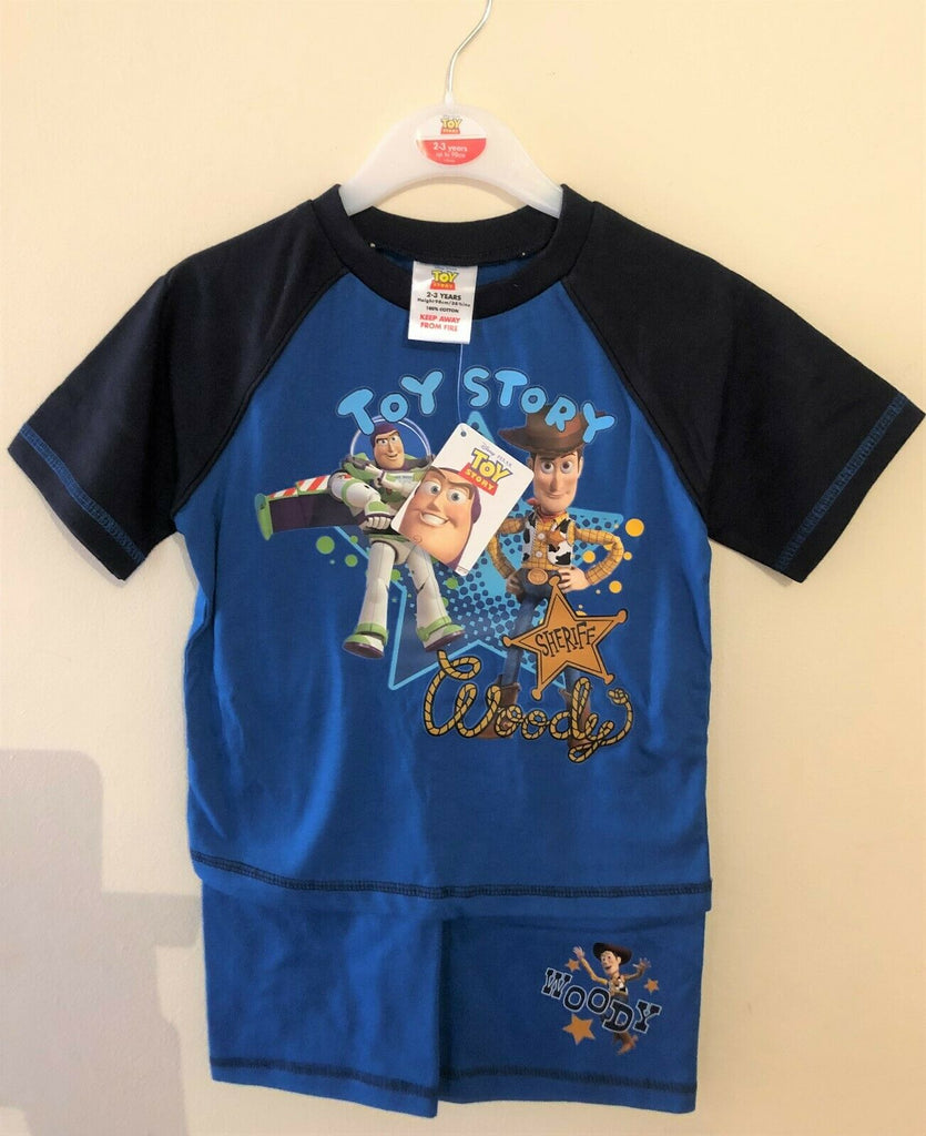 New Toy Story Sheriff Woody Pyjama Shorts Set - Official Disney - Ages 2-4 Years
