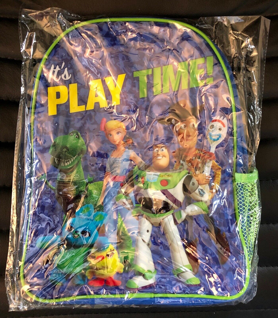 New Boys Disney Toy Story 4 Backpack Mesh Pocket Adjustable Straps - Official Exstore