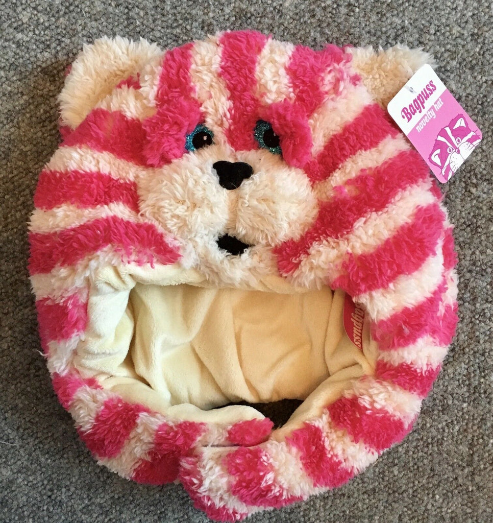 New Bagpuss Fluffy Novelty Hat - Official - Nostalgic Gift - One Size Fits 4-12 Years
