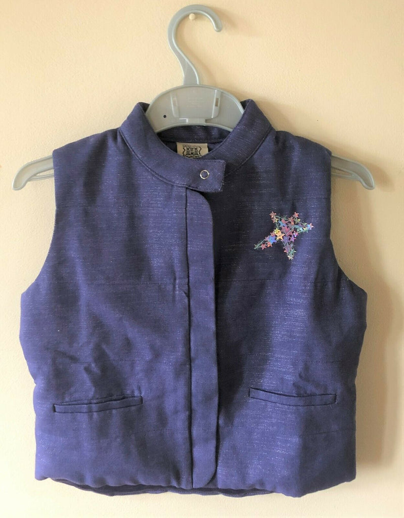 New Girls Mini Gilet Bodywarmer - Purple Glitter - Exstore Beetlejuice London - 4 Yrs