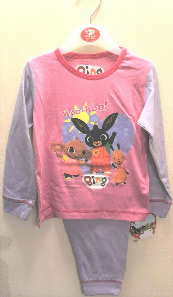 New Baby Girls Bing Pyjama Set Pink - Exstore - 100% Cotton Ages 18-24 Months