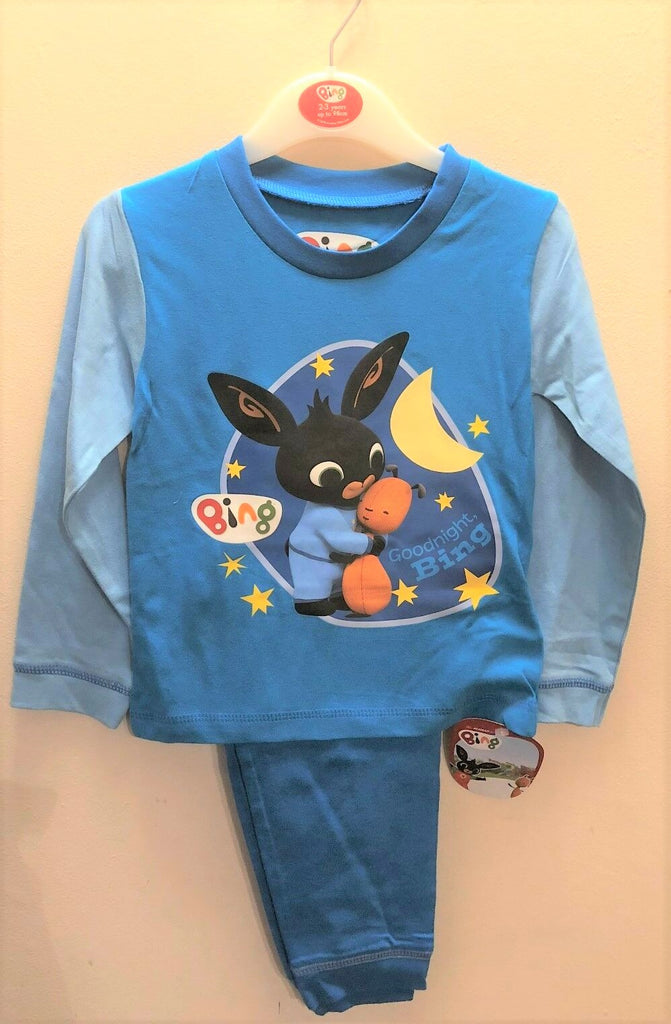 New Baby Boys Bing Pyjama Set Blue - Exstore - 100% Cotton - Age 3-4 Years